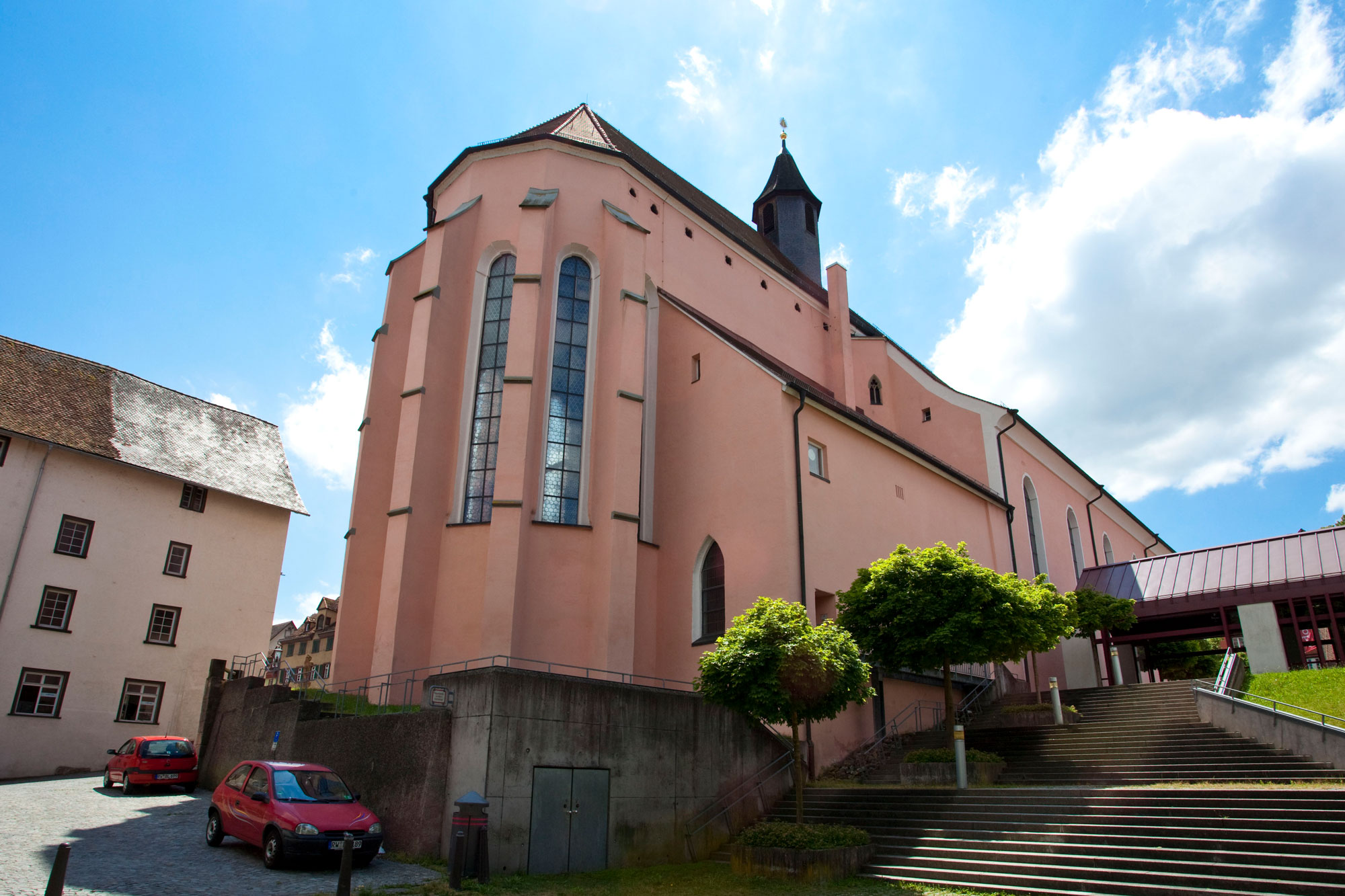 Blick vom Bockshof auf die Predigerkirche